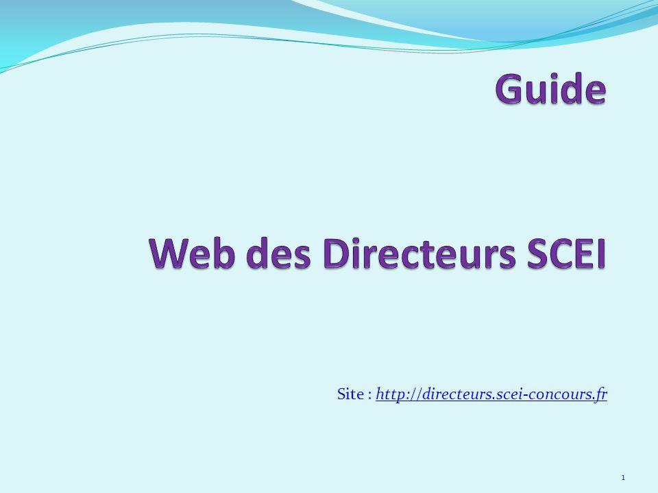 Site : http://directeurs.scei-concours.fr 1