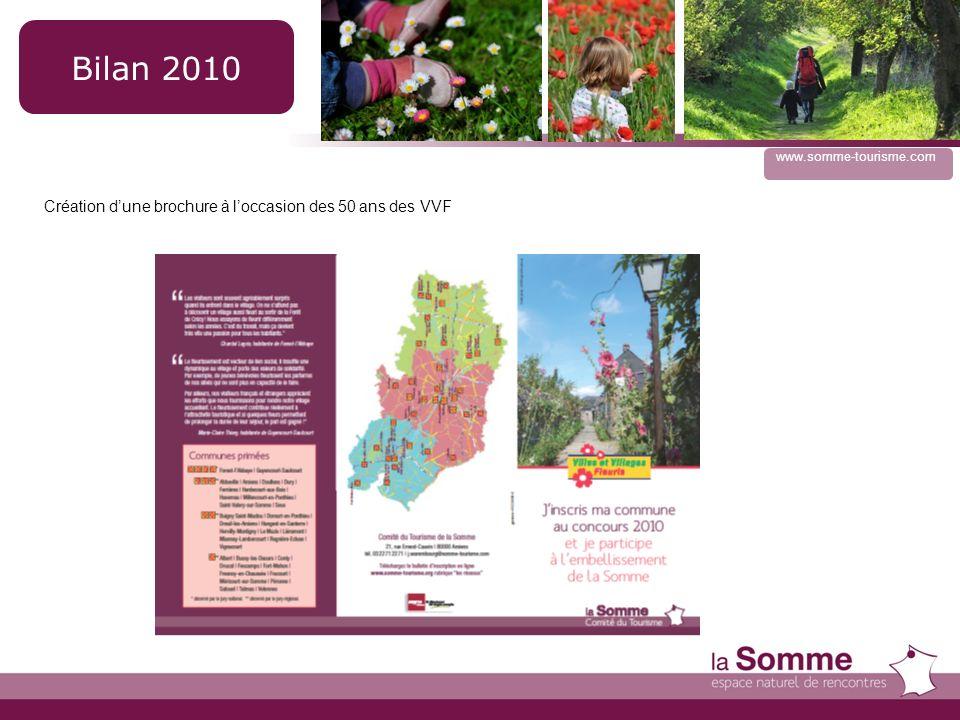 www.somme-tourisme.com Création dune brochure à loccasion des 50 ans des VVF Bilan 2010