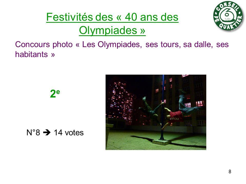 Festivités des « 40 ans des Olympiades » Concours photo « Les Olympiades, ses tours, sa dalle, ses habitants » 8 2 e N°8 14 votes