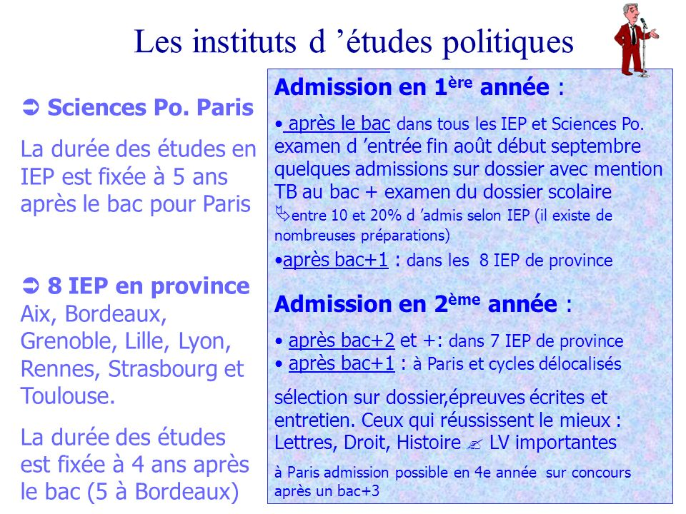 Les instituts d études politiques Sciences Po.