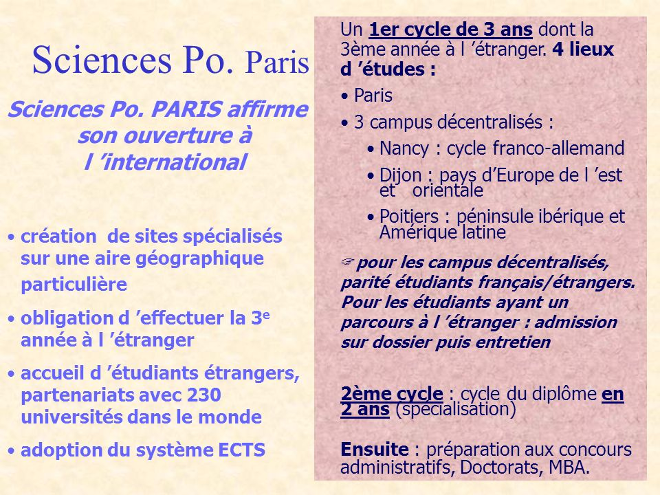 Sciences Po. Paris Sciences Po.