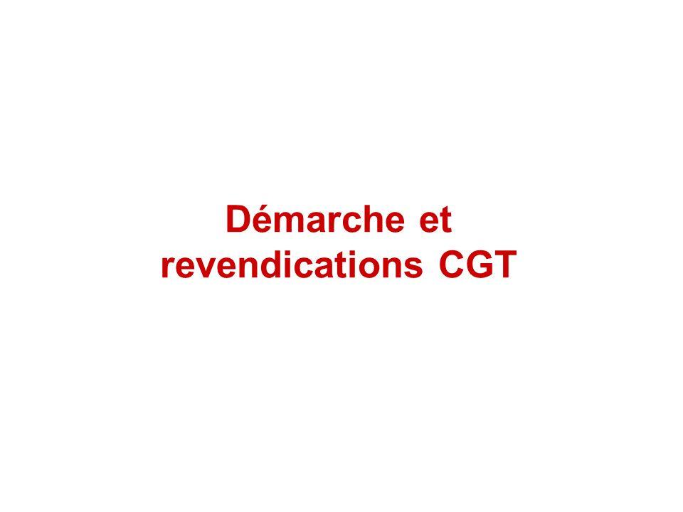 Démarche et revendications CGT