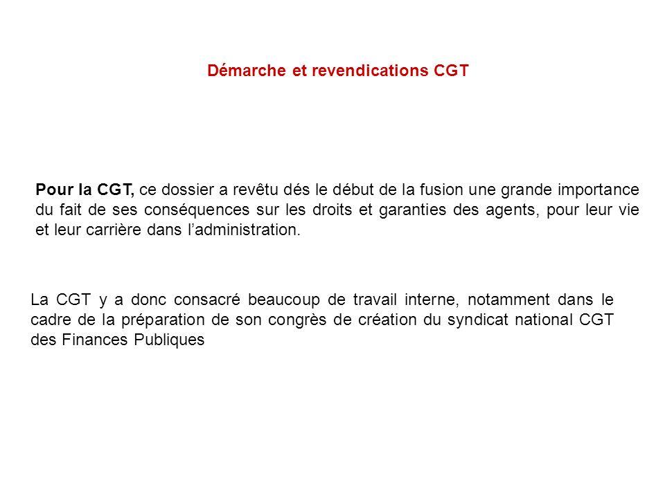 Pour la CGT, ce dossier a revêtu dés le début de la fusion une grande importance du fait de ses conséquences sur les droits et garanties des agents, p