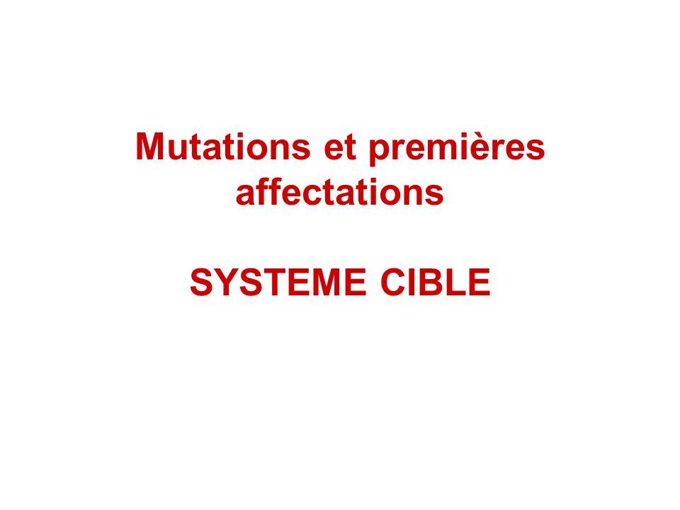 Mutations et premières affectations SYSTEME CIBLE