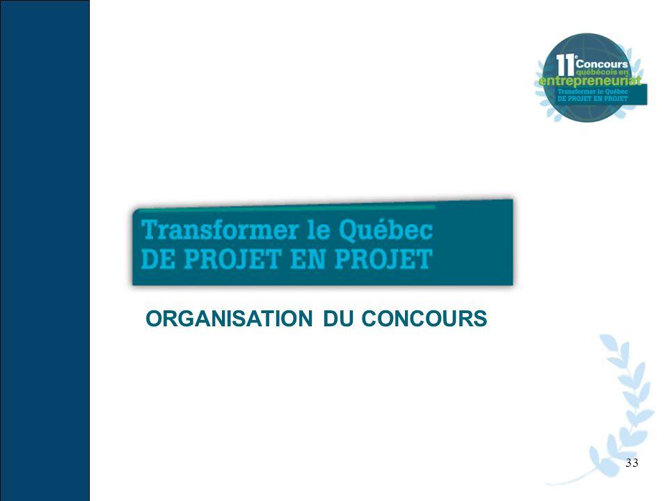 33 ORGANISATION DU CONCOURS