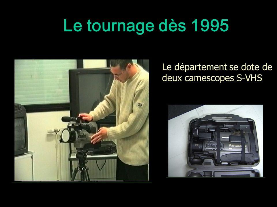 Le tournage dès 1995 Le département se dote de deux camescopes S-VHS