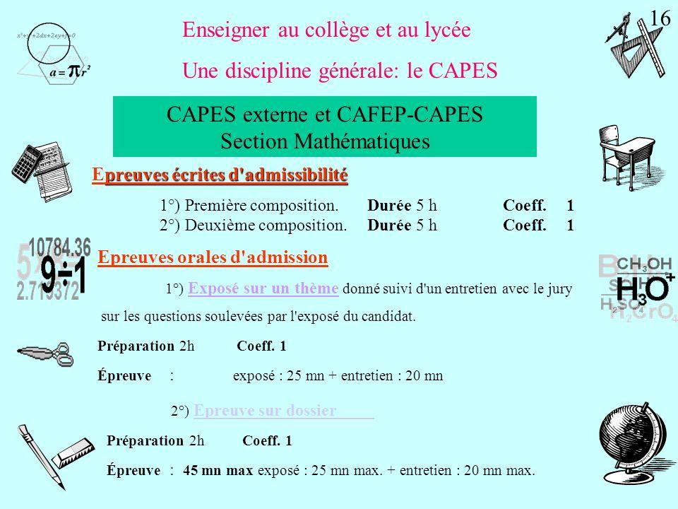 Les pré-requis: la licence Mathématiques sciences Sciences /mathématiques et informatique spécialité Mathématiques Physique-Chimie Sciences /Sciences