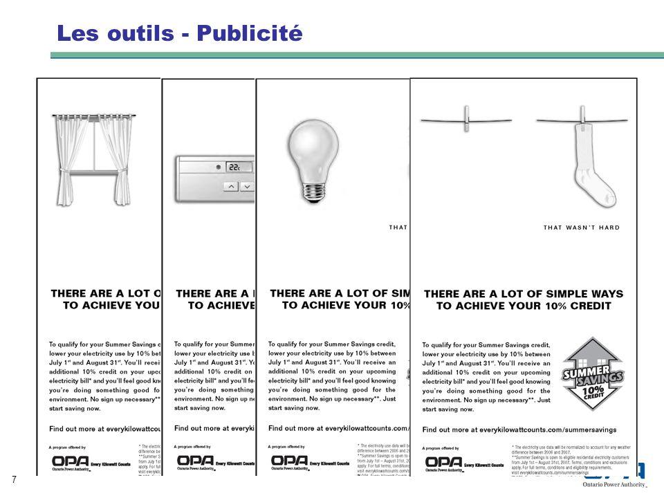 8 Les outils – Interactivité Roulette Chaque kilowatt compte – Utilisez lélectricité de façon responsable