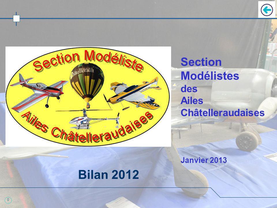 0 Section Modélistes des Ailes Châtelleraudaises Janvier 2013 Bilan 2012