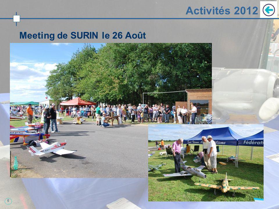 5 Activités 2012 Meeting de SURIN le 26 Août