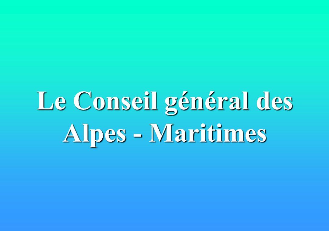 Le Conseil général des Alpes - Maritimes