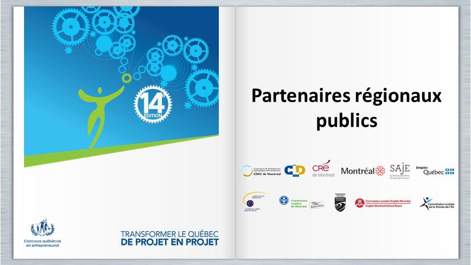 Partenaires régionaux publics Partenaires régionaux publics