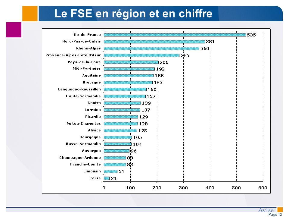 Page 12 Le FSE en région et en chiffre
