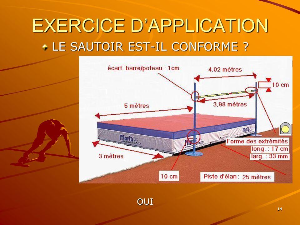 14 EXERCICE DAPPLICATION LE SAUTOIR EST-IL CONFORME ? OUI