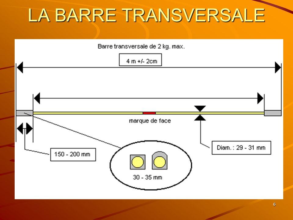 6 LA BARRE TRANSVERSALE