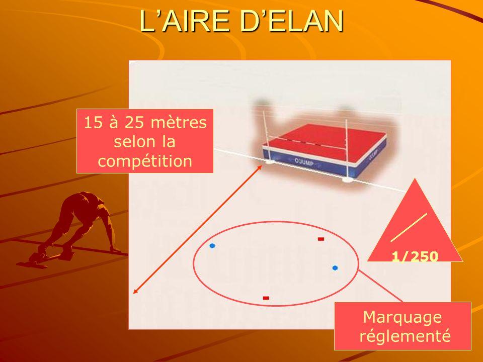 9 LAIRE DELAN 15 à 25 mètres selon la compétition 1/250 Marquage réglementé
