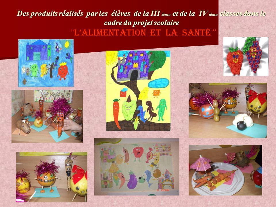 Des produits réalisés par les élèves de la III ième et de la IV ième classes dans le cadre du projet scolaire Des produits réalisés par les élèves de