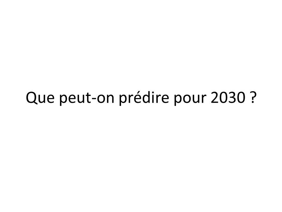 Que peut-on prédire pour 2030 ?