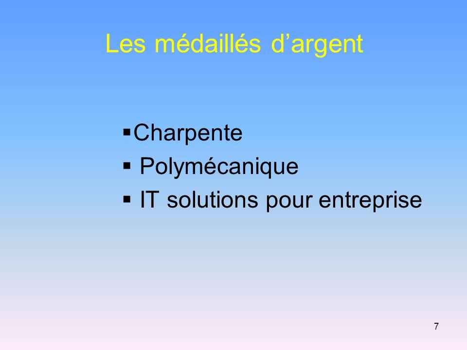 Les médaillés dargent Charpente Polymécanique IT solutions pour entreprise 7