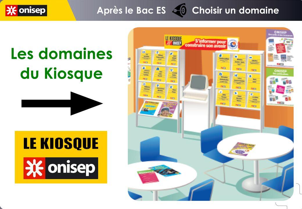 Après le Bac ES Choisir un domaine Les domaines du Kiosque