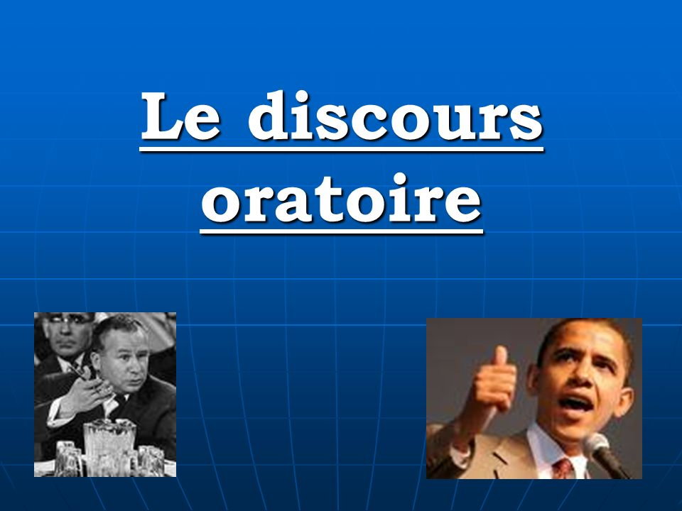 """Pr�sentation """"Le discours oratoire. La Description R�diger un ..."""
