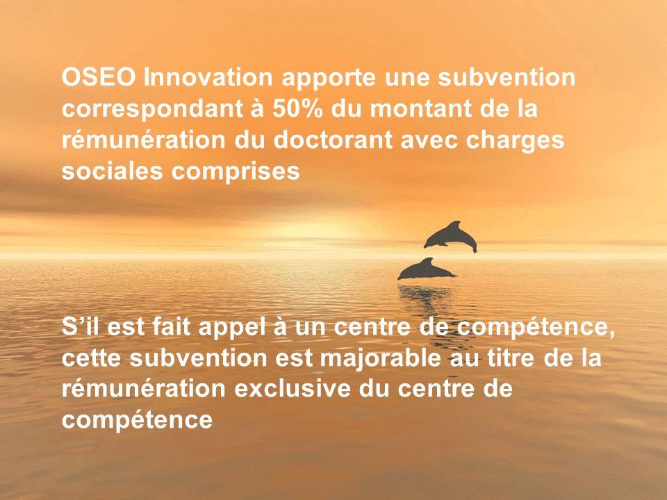 30 OSEO Innovation peut financer simultanément plusieurs embauches dans une entreprise dans la mesure où la PME- PMI peut justifier la création de plusieurs poste de R&D aux fonctions et compétences complémentaires