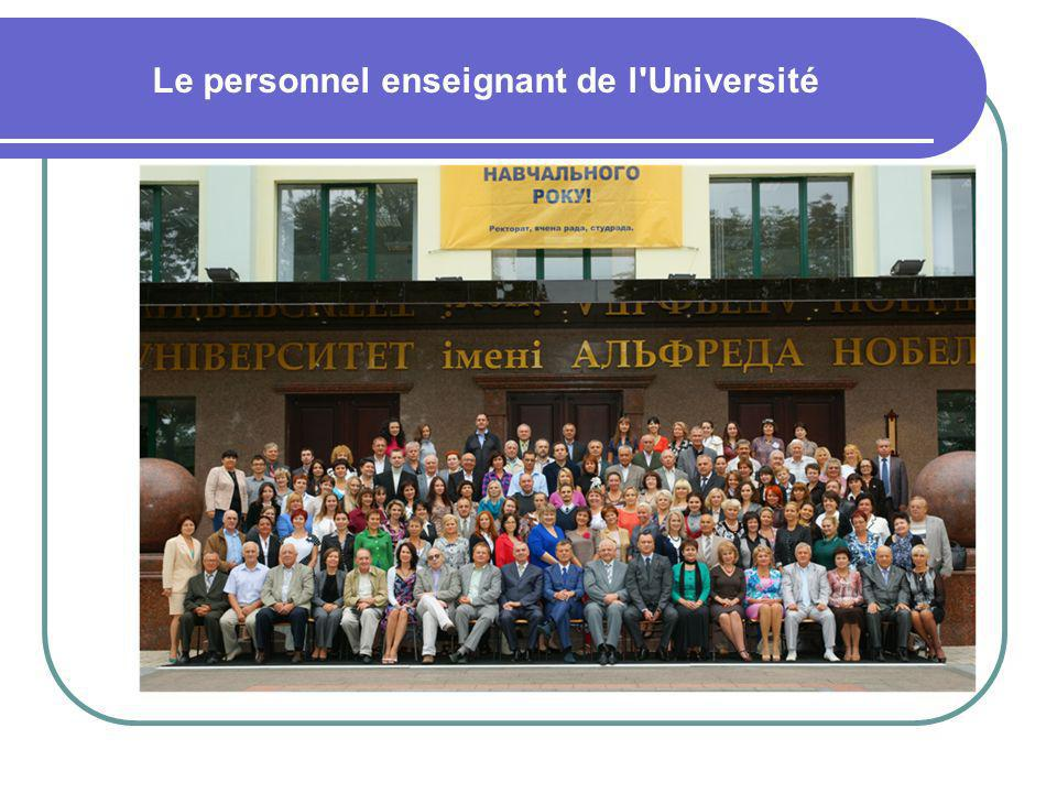 Le personnel enseignant de l Université