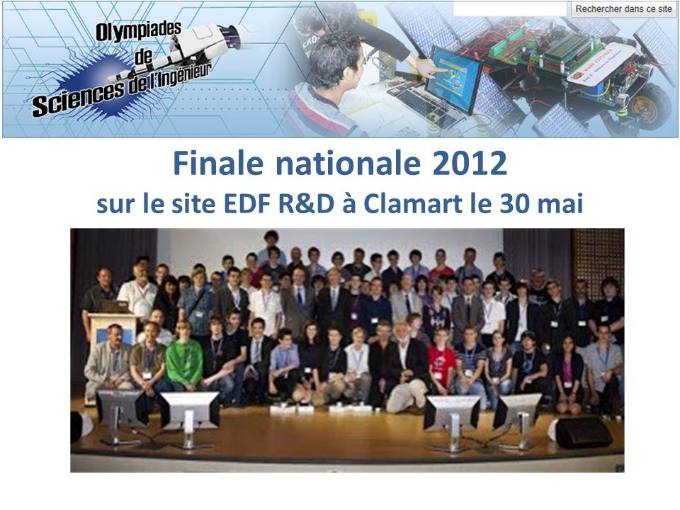 Finale nationale 2012 sur le site EDF R&D à Clamart le 30 mai