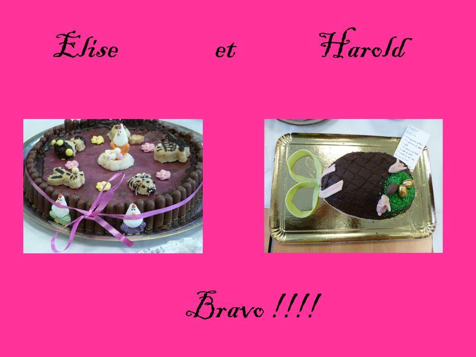 Bravo !!!! Elise et Harold