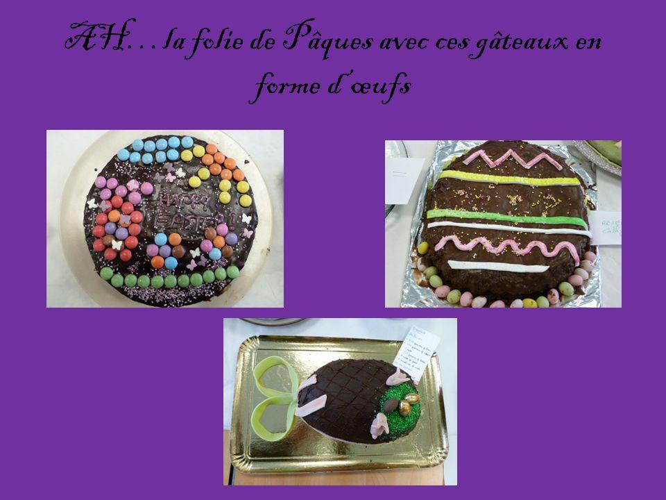AH…la folie de Pâques avec ces gâteaux en forme dœufs