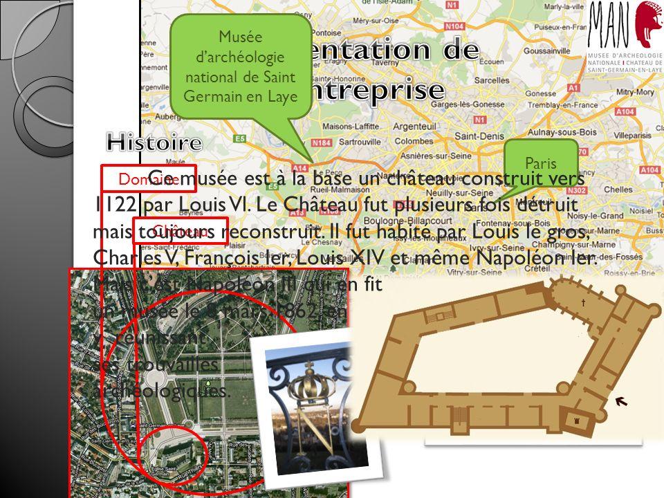 Musée darchéologie national de Saint Germain en Laye Paris Domaine Château Ce musée est à la base un château construit vers 1122 par Louis Vl.