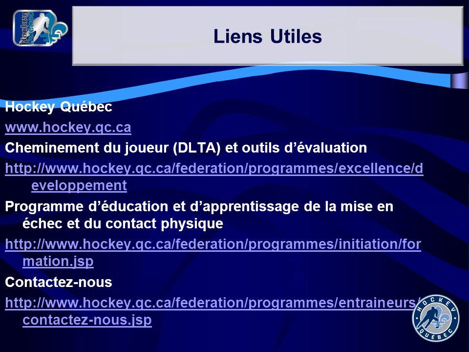 Hockey Québec www.hockey.qc.ca Cheminement du joueur (DLTA) et outils dévaluation http://www.hockey.qc.ca/federation/programmes/excellence/d eveloppem
