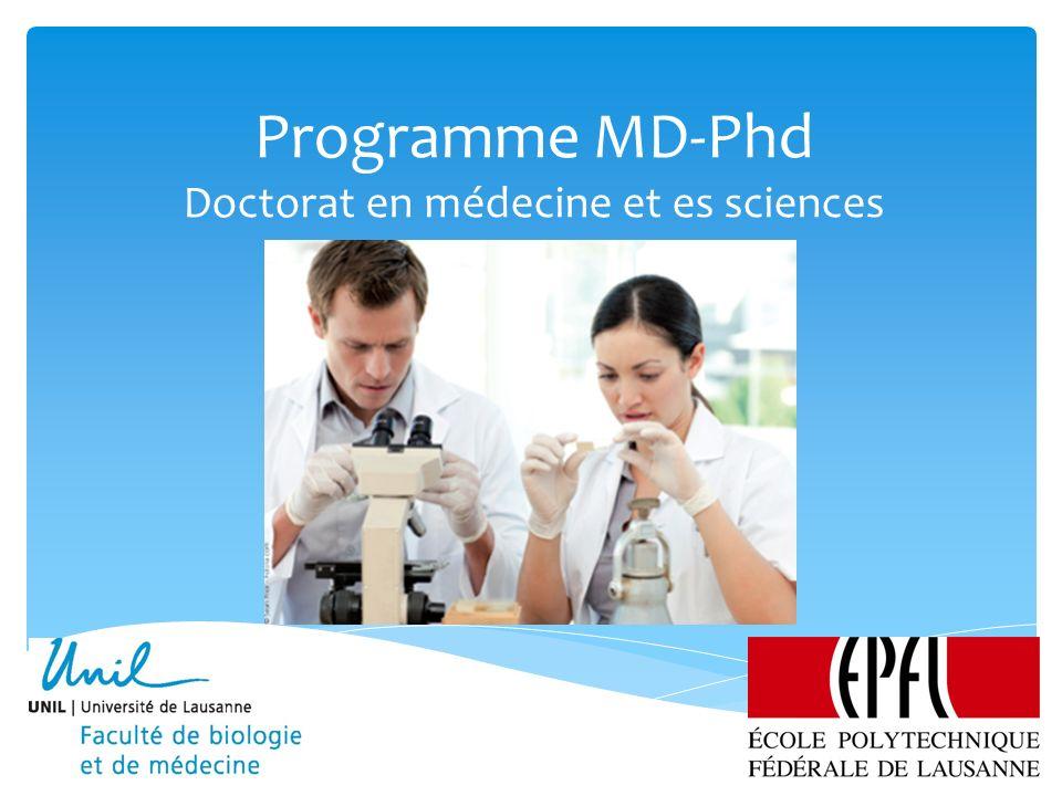 Programme MD-PhD Lausanne Programme MD-PhD12