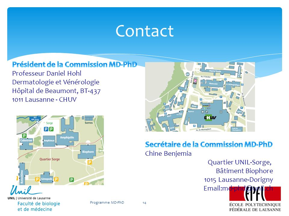 Contact Programme MD-PhD14