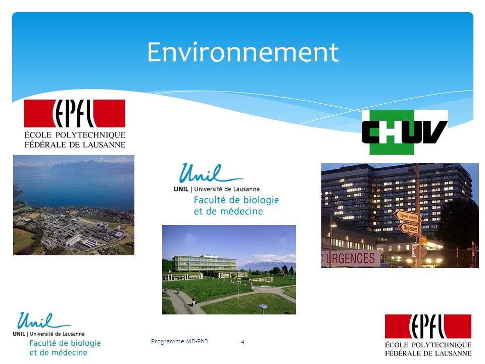 www.unil.ch/mdphd Programme MD-PhD15