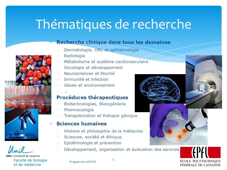Recherche clinique dans tous les domaines -Dermatologie, ORL et ophtalmologie -Radiologie -Métabolisme et système cardiovasculaire -Oncologie et dével