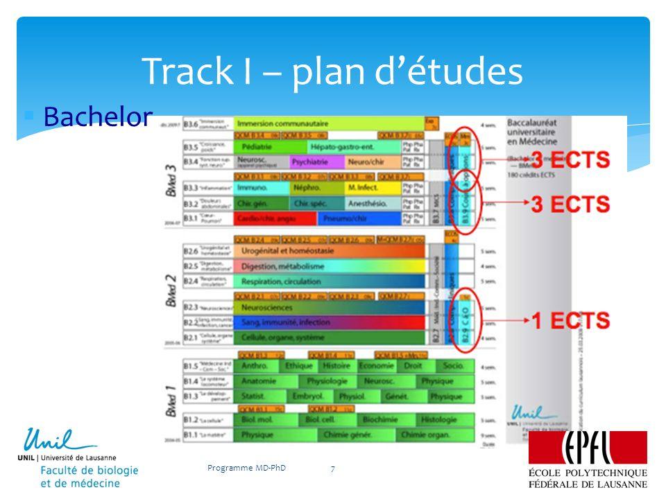 Bachelor Track I – plan détudes Programme MD-PhD7