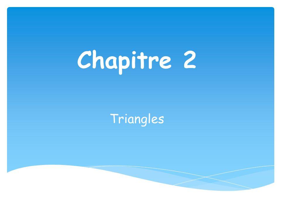 Chapitre 2 Triangles