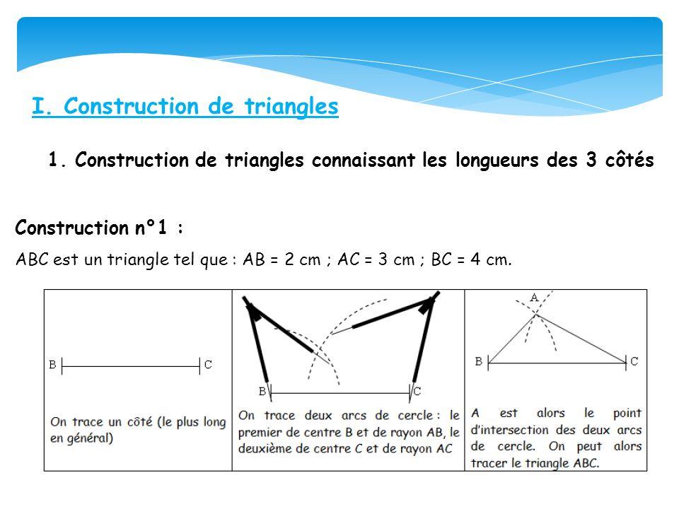 I.Construction de triangles 1.
