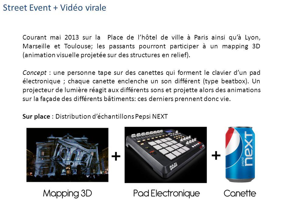 Street Event + Vidéo virale Courant mai 2013 sur la Place de lhôtel de ville à Paris ainsi quà Lyon, Marseille et Toulouse; les passants pourront part