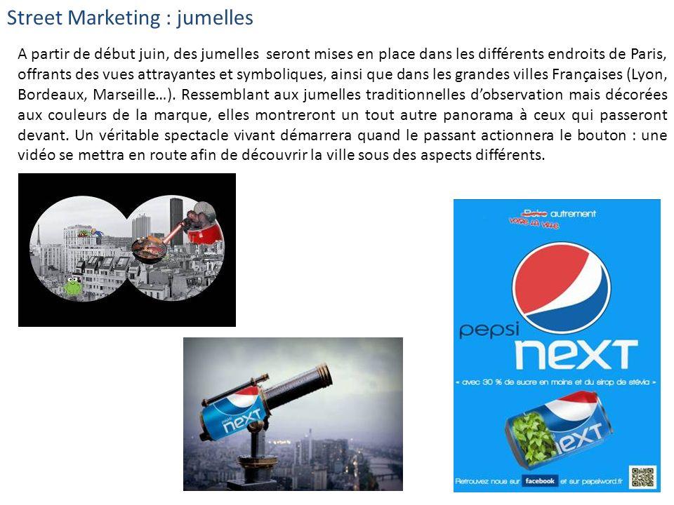 Street Marketing : jumelles A partir de début juin, des jumelles seront mises en place dans les différents endroits de Paris, offrants des vues attray