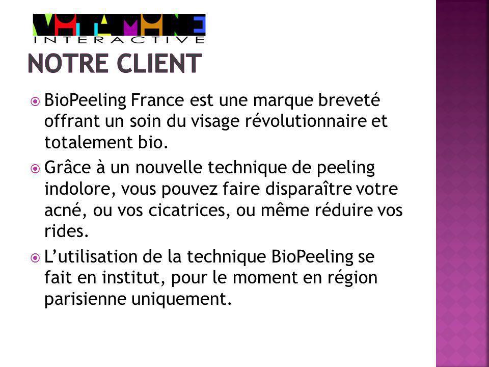 BioPeeling France est une marque breveté offrant un soin du visage révolutionnaire et totalement bio.