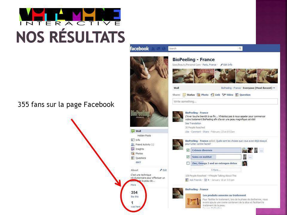 355 fans sur la page Facebook