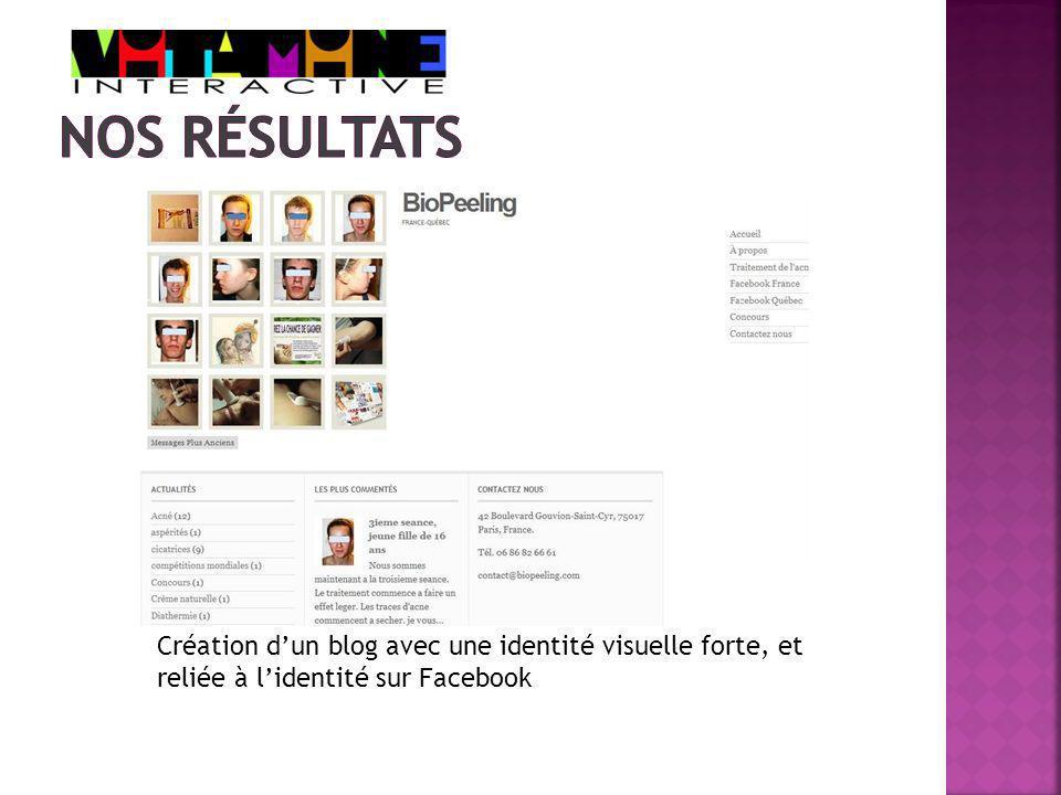 Création dun blog avec une identité visuelle forte, et reliée à lidentité sur Facebook