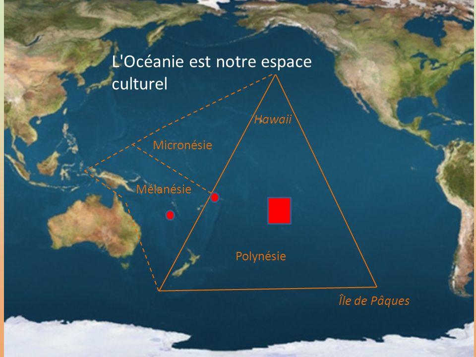 7 L'Océanie est notre espace culturel Polynésie Micronésie Mélanésie Île de Pâques Hawaii