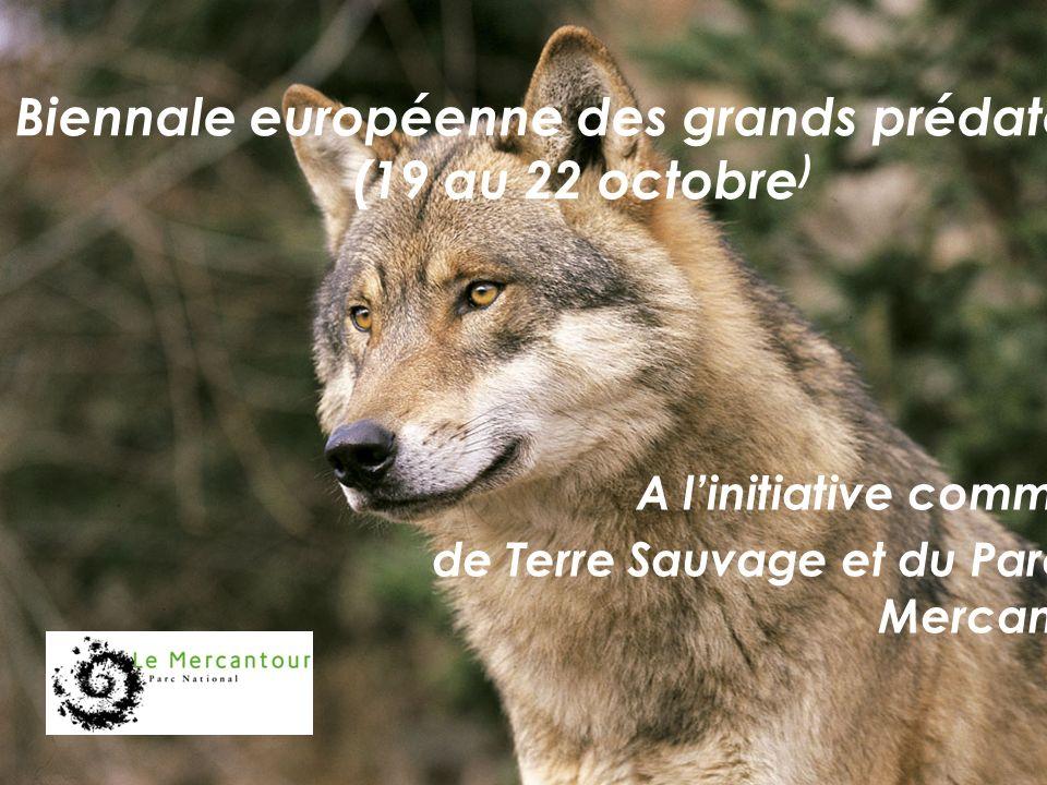 Biennale européenne des grands prédateurs (19 au 22 octobre ) A linitiative commune de Terre Sauvage et du Parc du Mercantour