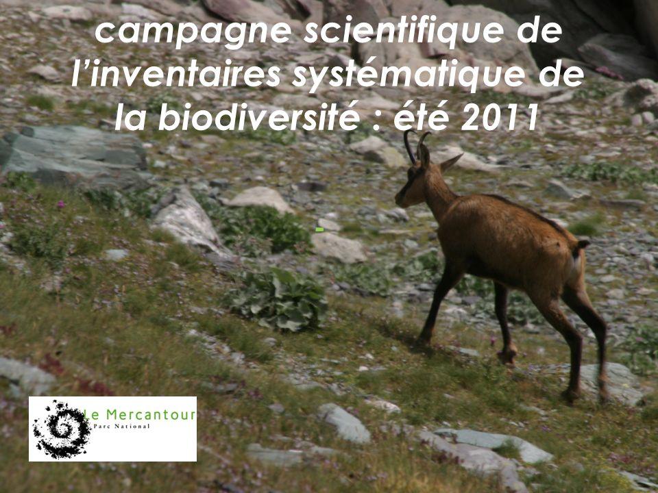 campagne scientifique de linventaires systématique de la biodiversité : été 2011 -