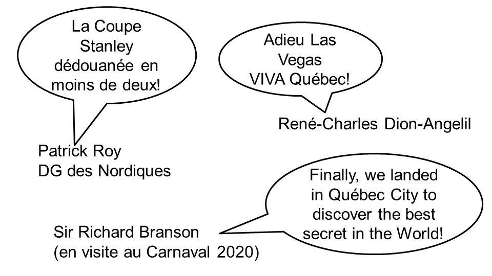 La Coupe Stanley dédouanée en moins de deux.Adieu Las Vegas VIVA Québec.