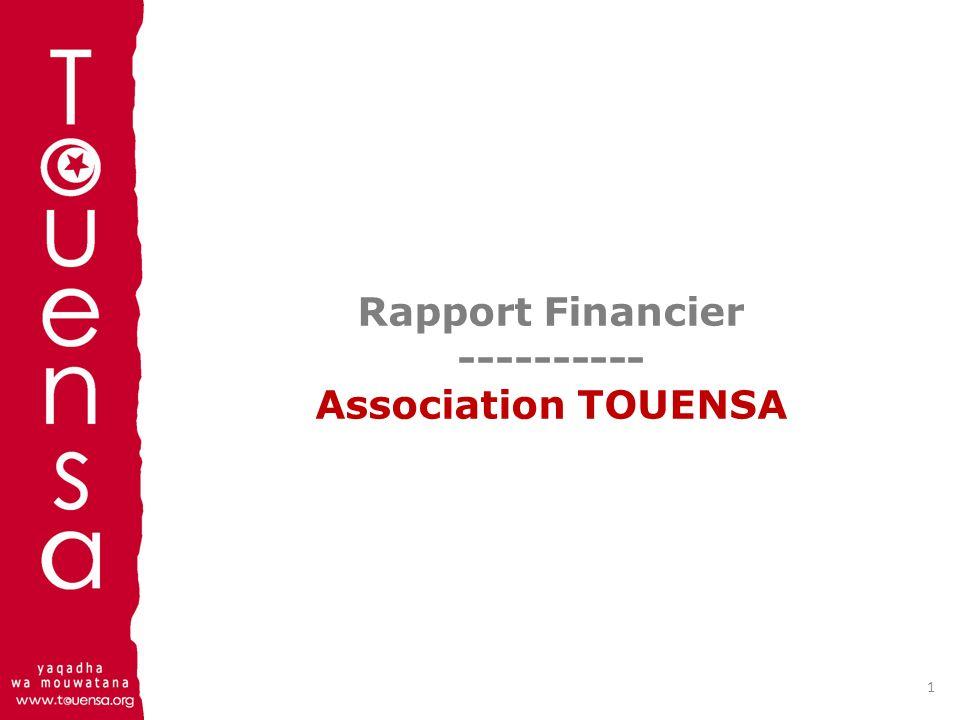 Rapport Financier ---------- Association TOUENSA 1