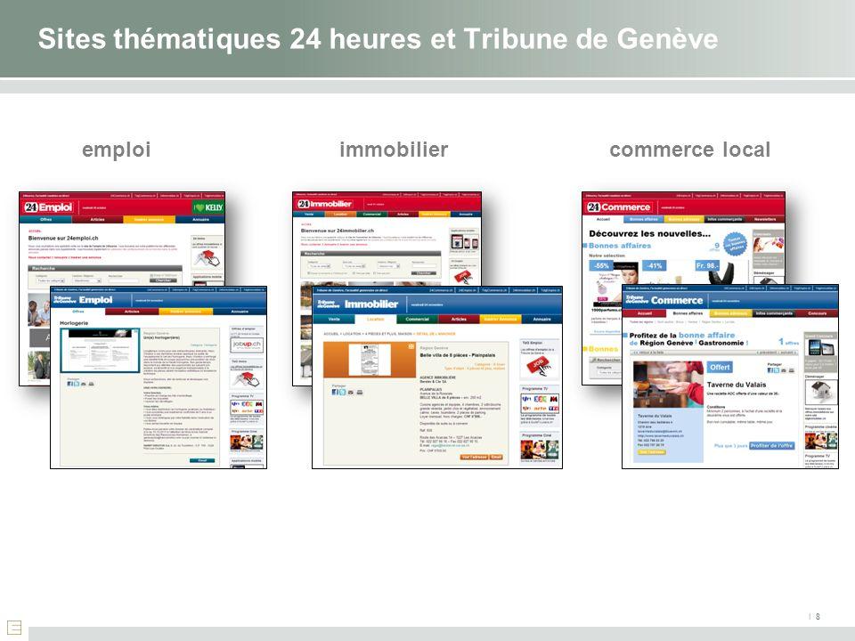 I 8 Sites thématiques 24 heures et Tribune de Genève emploiimmobiliercommerce local